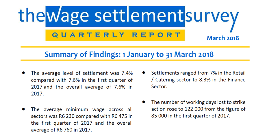 the wage Settlement survey